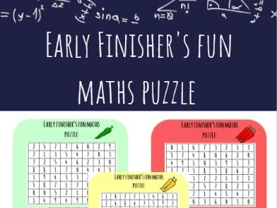 Early Finisher's Fun Maths Puzzle! (Chillies)