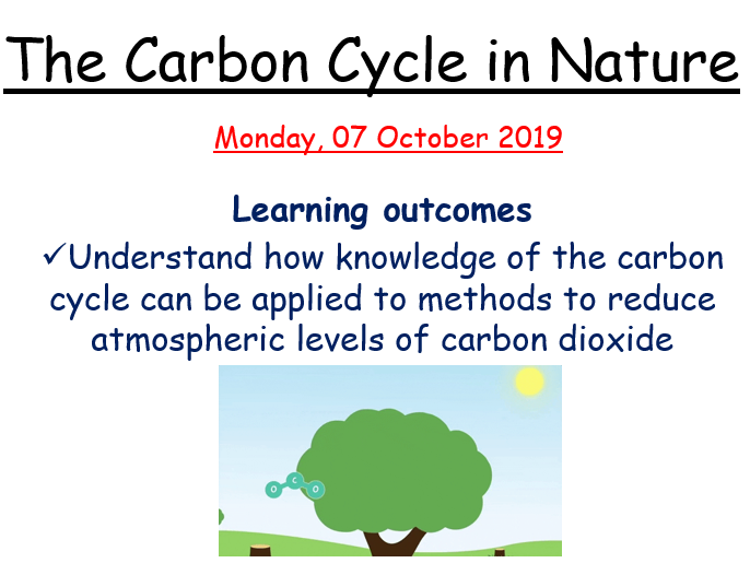 The Carbon Cycle + Greenhouse Gases and Climate Change