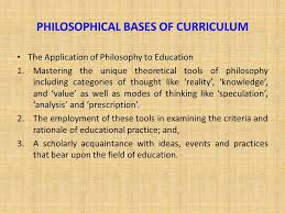 Categories of Philosophies- Later Philosophers
