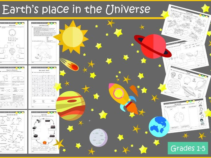Earth's Place in the Universe Worksheets (NGSS: Grades 1-5)
