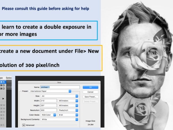 Photoshop Workshop - Double Exposure Clipping Mask
