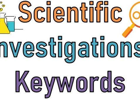 Scientific investigation Keywords