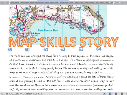 A map skills story