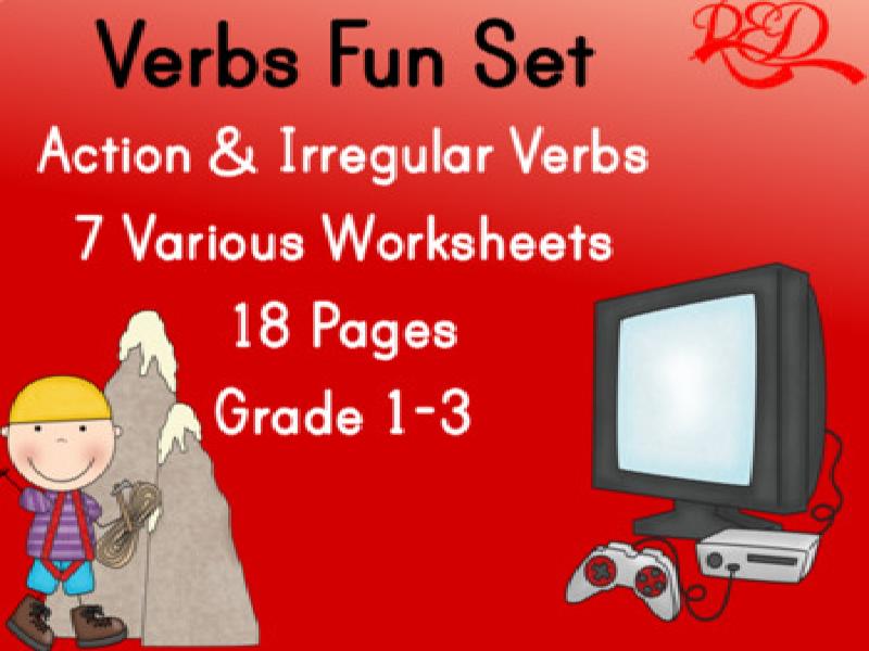Action and Irregular Verbs Bundle