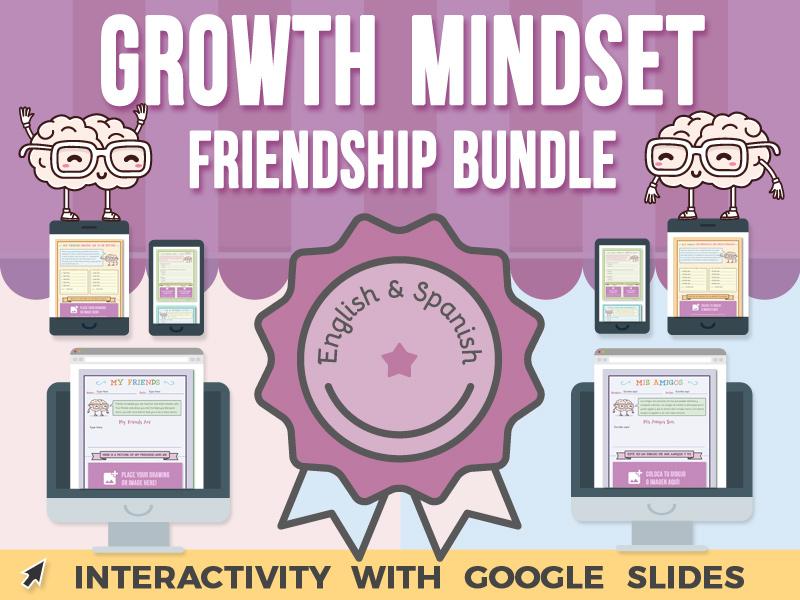 Growth Mindset - Friendship - Google Slides BUNDLE