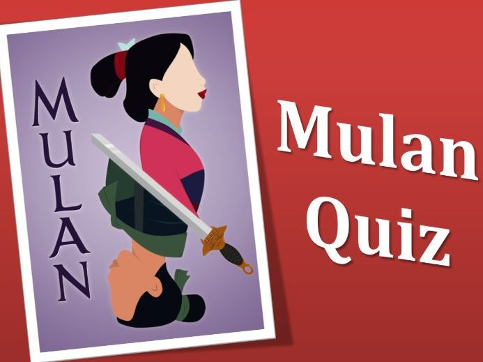 Mulan Multiple Choice Quiz Game - Grades 2-3 - PowerPoint