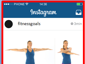 Instagram fitness cards