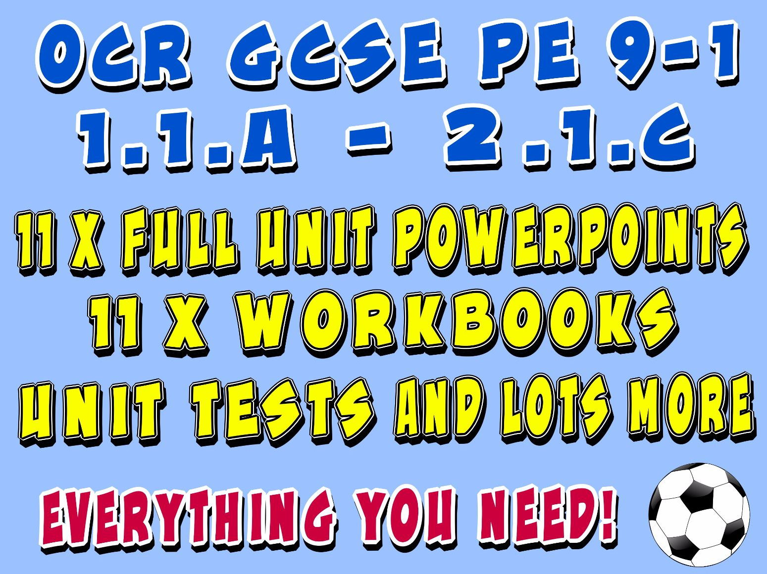 OCR GCSE PE 9-1 (2016 - NEW) - Applied Anatomy and Physiology, Physical Training and Socio-Cultural Influences - Complete Units of Work