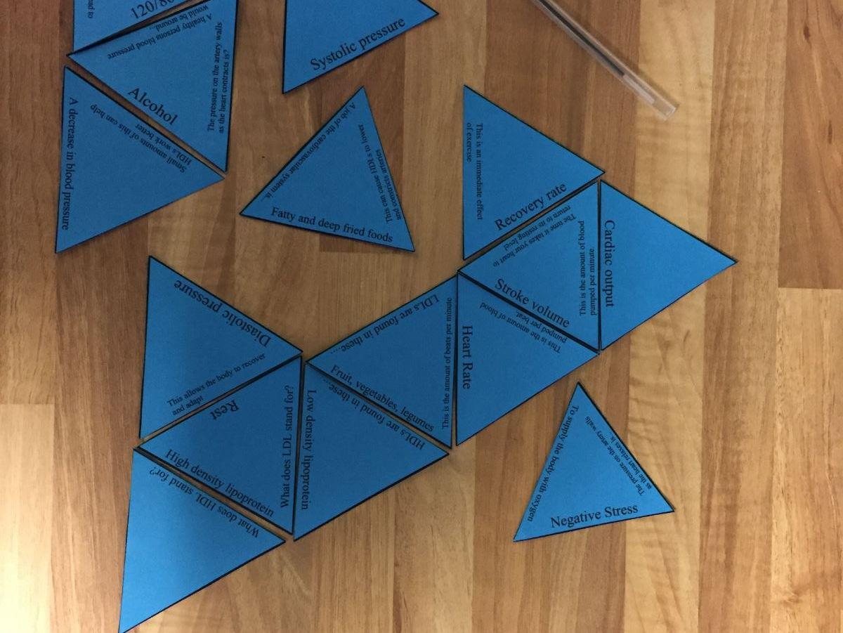 GCSE PE OCR 9-1 ENTIRE COURSE (paper 1 & 2) Tarsia Triangle Puzzles
