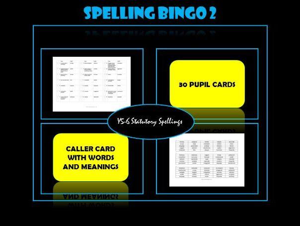 Spelling Bingo (Set 2):  Year 5/6 statutory spelling list