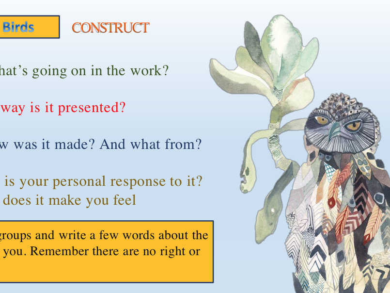 Content, Form, Process, Mood - and/or Artist Introduction Lesson