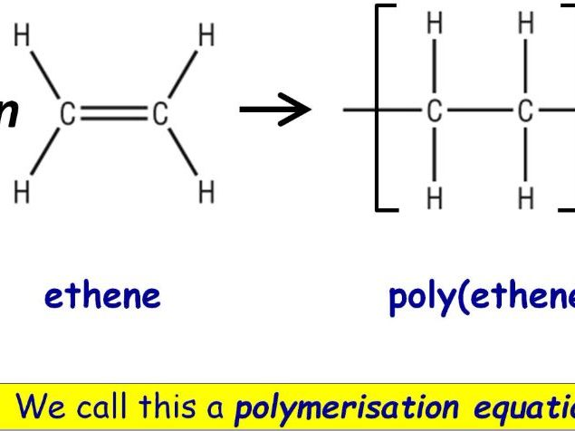 GCSE Chemistry Polymers and Addition Polymerisation Full Lesson (Edexcel 9-1 SC24a SC24b) TRIPLE