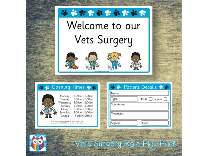 Vets Role Play Pack