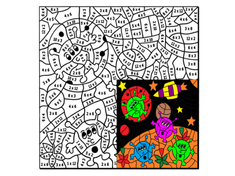 Times Tables Colouring Puzzle One by Arithmetints