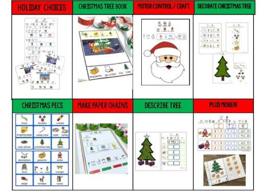 Special Need Christmas Activity Bundle