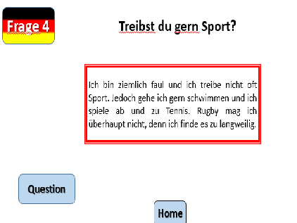 GCSE AQA German Speaking Practice Game - Theme 1 - Free Time and Customs