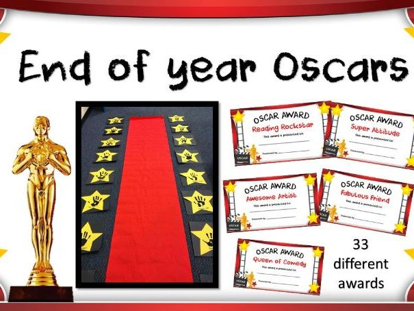 End of year Oscars Classroom Awards