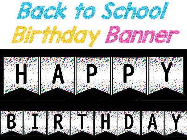 Birthday Banner   Confetti Banner Letters A-Z   Birthday Display Board Banner