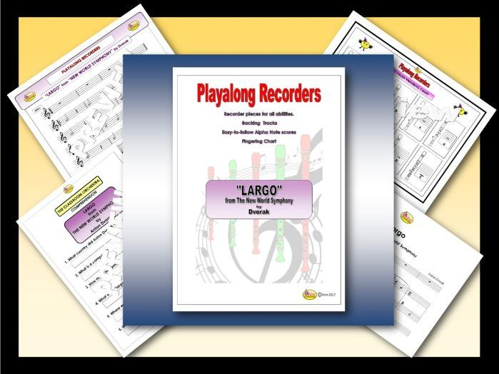Playalong Recorders - LARGO from THE NEW WORLD SYMPHONY