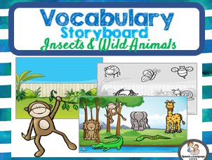 Category Sorting Zoo Animals & Insects - Stick on Backgrounds