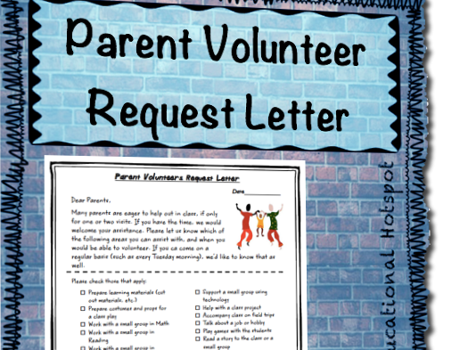 Parent Volunteers Request Letter Form