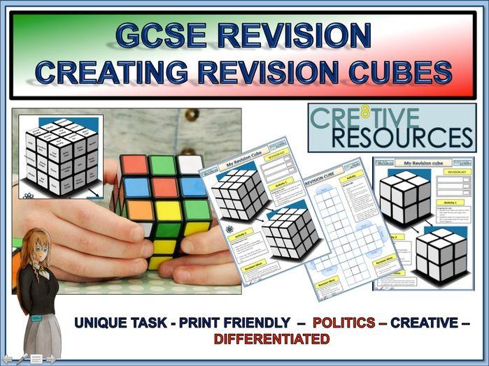 GCSE Revision 9-1 Cubes