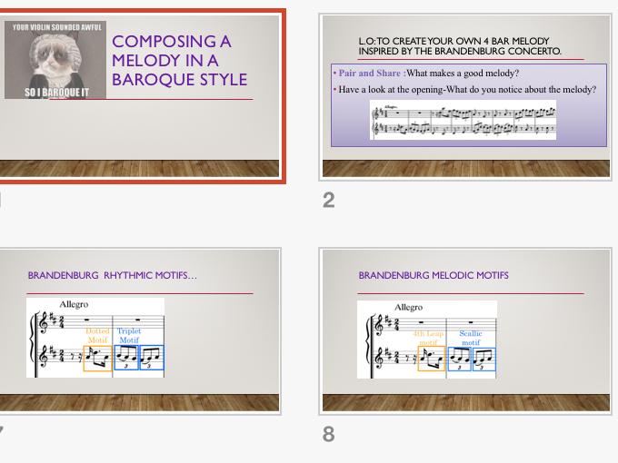 Music GCSE (9-1) Edexcel: AOS 1 Baroque Melodies