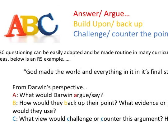 Questioning in our classrooms CPD/ Briefing/ Inset