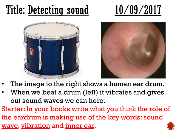 Detecting sound - complete lesson (KS3)