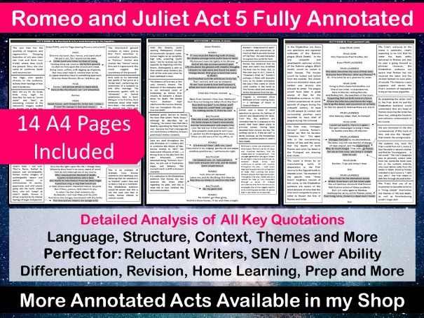Romeo and Juliet Act 5 Fully Annotated