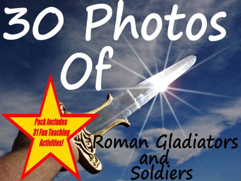 Ancient Rome Gladiators and Soldiers - PowerPoint + 31 Great Ways To Use These Flashcards in Class