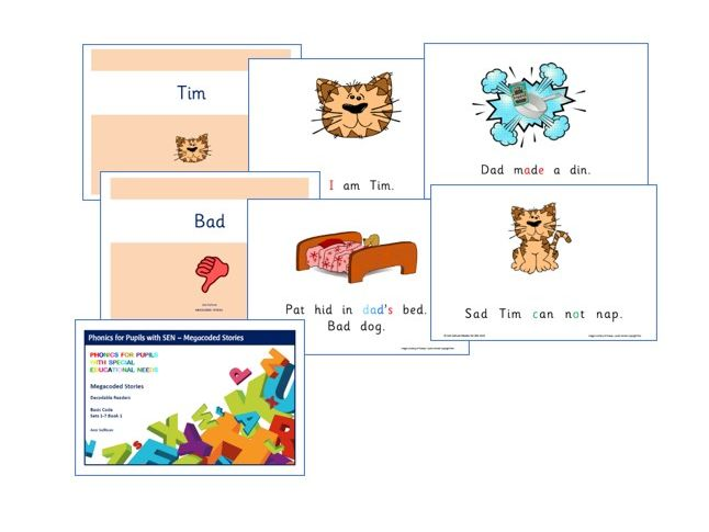 Megacoded Stories - Decodable readers - Basic Code with prime words - Phonics for SEN
