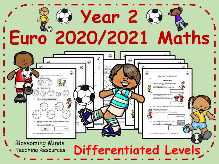Year 2 Euro 2020 / 2021 Football Maths