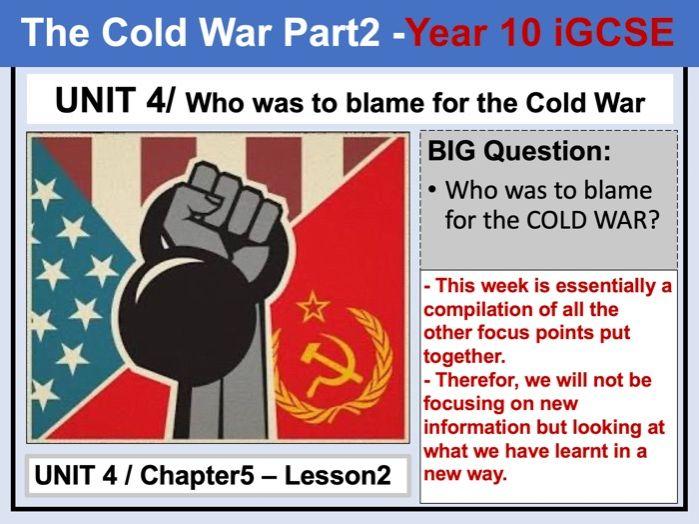 Cambridge IGCSE History - Unit 4 - Chapter5 - Lesson2