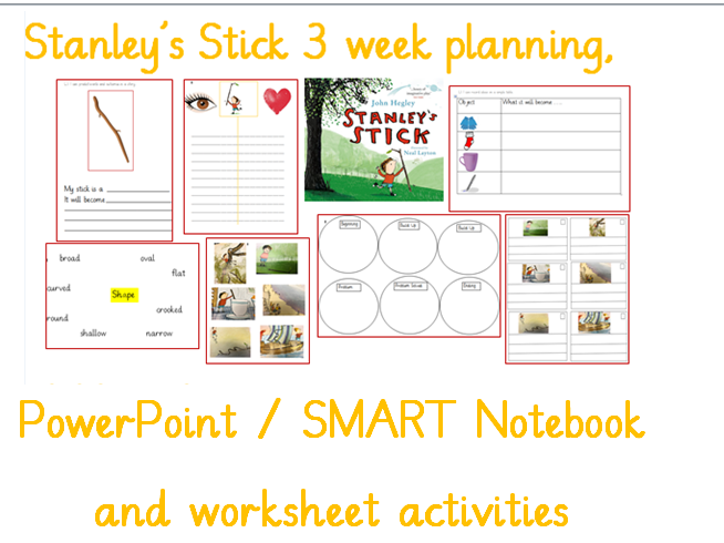 Stanley's Stick Y1 Planning, Slides and Resources