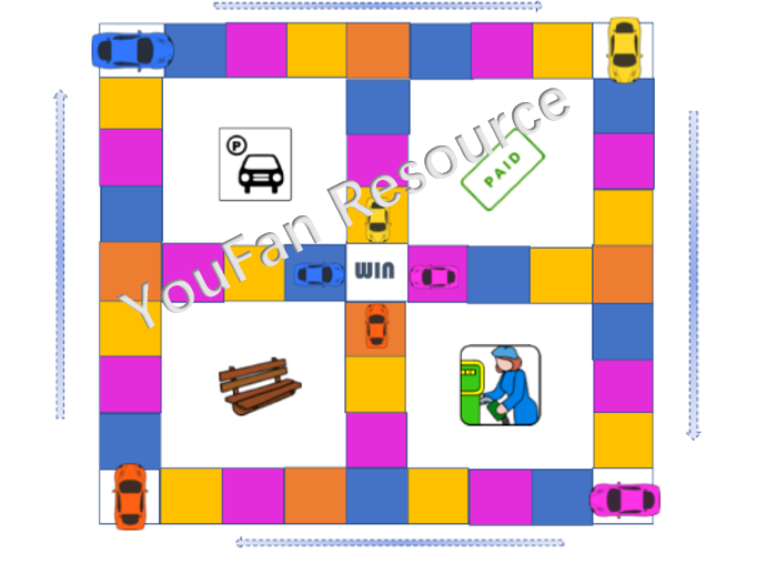 Number sequences sequencing bonds game - parking lot game