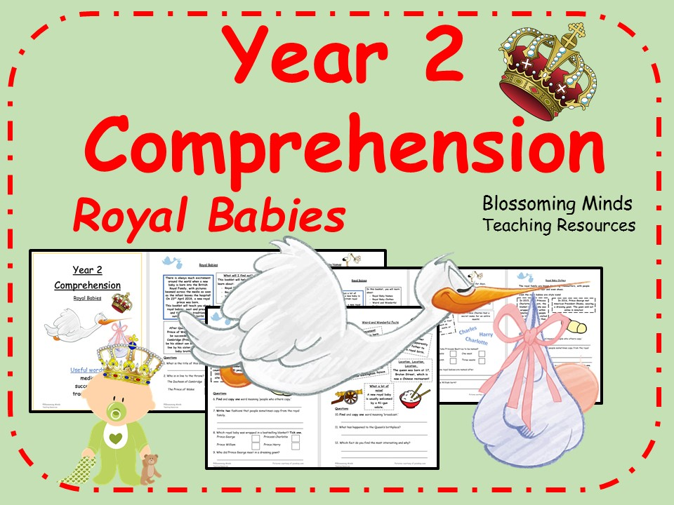 Year 2 Reading Comprehension - Royal Family - Royal Baby