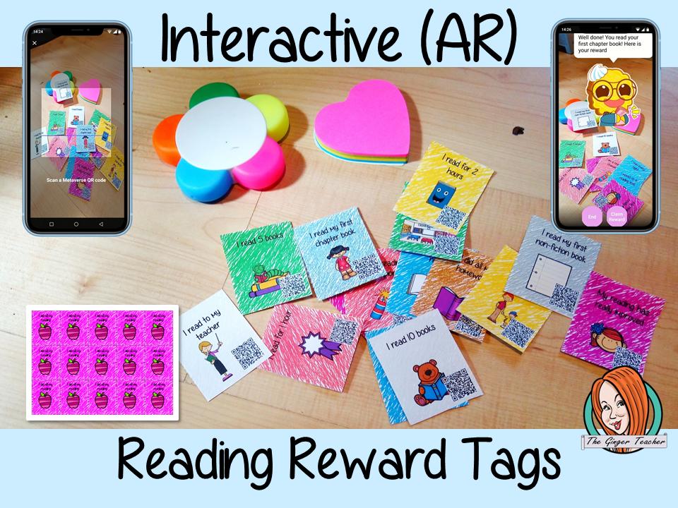 Reading Achievements Interactive Reward Tags
