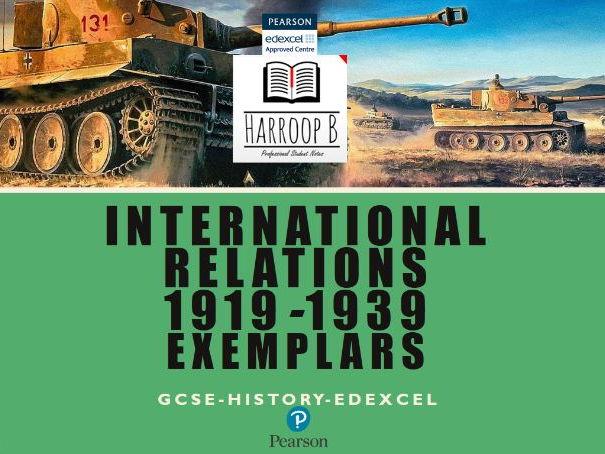 GCSE EDEXCEL History International Relations Exemplars
