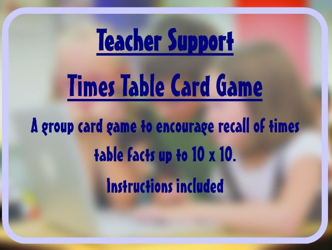 Times table game (up to 10 x 10) - Fluency activity supports a Maths Mastery approach
