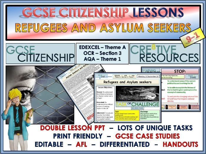 Lessons - Asylum Seekers and Refugees -  GCSE Citizenship 9-1