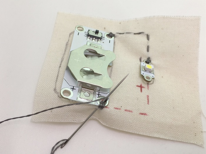 E-textiles Heart Fabric Torch