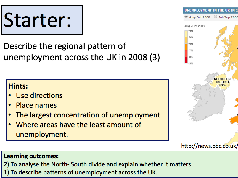The North-South Divide UK (AQA 9-1)