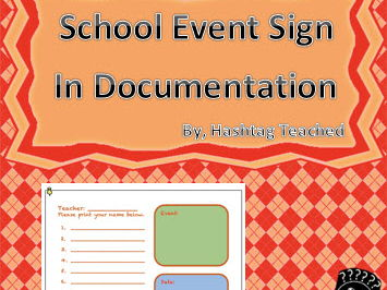 Multipurpose School Event Sign In Sheet for Documentation