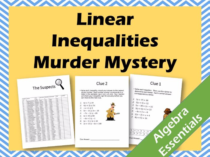 Murder Mystery! Solving Linear Inequalities