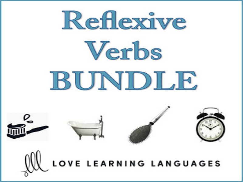 French Reflexive Verbs and Daily Routine Bundle