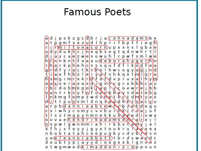 Control your  Noisy Class with this Famous Poets word search puzzle!