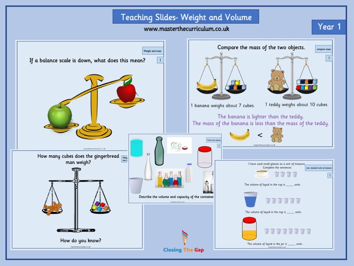 Year 1 - Editable Teaching Slides- Mass and Volume - White Rose Style