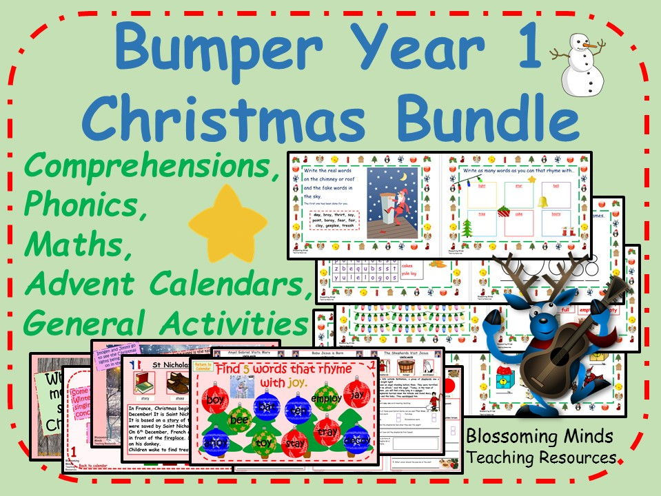 Bumper Year 1 Christmas Activity Pack