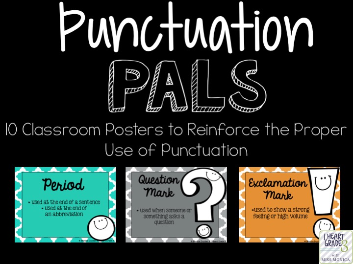Punctuation Pals Posters